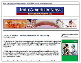 Innovation Demands Freedom: Article in Indo American News