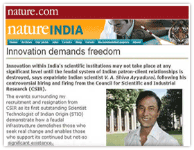 Innovation Demands Freedom: Article in Nature India