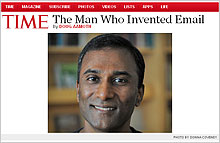 Article in TIME on by Doug Aamoth: The Man Who Invented Email
